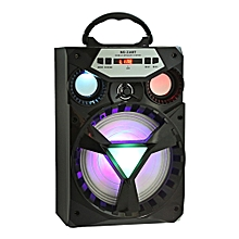 MS - 216BT Multi-functional Bluetooth Speaker Big Drive Unit Bass Colorful Backlight FM Radio-BLACK