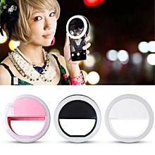 Selfie Ring light LED for iPhone/Samsung /Techno /Infinix - Pearl White
