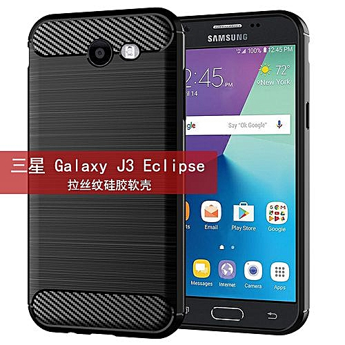 Samsung Galaxy J3 Eclipse Mobile Phone Shell With Brushed Silicone Shell