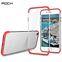 Cheer Series Case Transparent TPU Protective Shell For IPhone 7 - Red