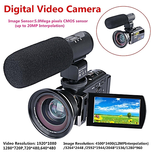 Digital Video Camera HD 1080P 16X Full Zoom LED 3.0 TFT LCD Camcorder Wide Angle