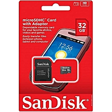 32GB MicroSDHC Memory Card with SD Adapter