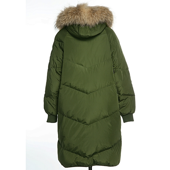 b7d7c3c8c ADOMI Womens Long Hooded Thickened Down Coat with Fur Trim Christmas ...
