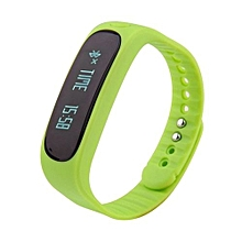 E02 Waterproof Fashion Bluetooth Smart Activity Tracker Bracelet(Green)