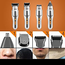 4 in 1 Washable Mens Eletric Nose Hair Clipper Trimmer Bead Hair Shaver Cutter Set with Comb