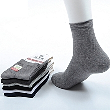 Mens Solid Color Cotton Mesh Breathable Business Casual Short Tube Socks