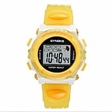 Famous Sport LED Digital Watches Men Fashion Top Brand Wrist Watch Male Electronic Clock Digital-watch(Yellow)