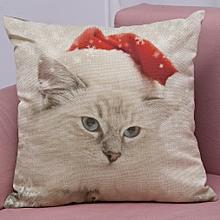 New Christmas Cotton Linen Pillow Case Sofa Cushion Cover Home Decor