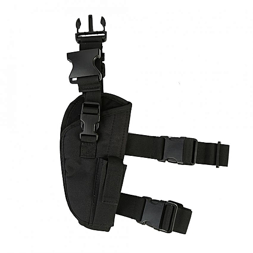 Adjustable Concealed Carry Ankle Leg Pistol Military Gun Holster Secure  Strap (Black)