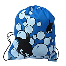 Multi-pattern Waterproof Clothing Storage Bag Drawstring Bag Outdoor Backpack-Array