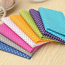 8Pcs 100% Cotton Fabric Craft Patchwork Quilting Sewing Wave Dot Cloth 50X50cm