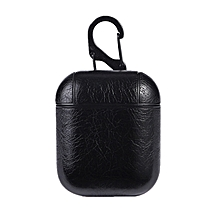 PU Leather Headset Case Protective Bag Cover Charging for Apple AirPods