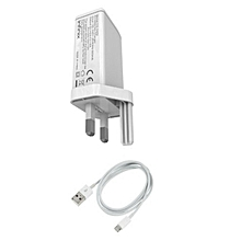 3 Pin Smart Phone Charger- White