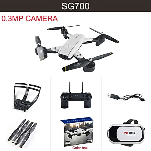 VR Drone with camera HD SG700 WIFI FPV With 5MP/2MP/0 3MP Camera Foldable  Arm RC Selfie Dron Kids Christmas Gift VS S20 SG900 ABDSW