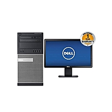 "Optiplex 9020 DT - 18.5"" Monitor -  Intel Core i7-4790 - 500GB HDD - 4GB RAM - Free DOS-  Black"