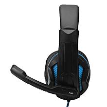 OVANN-X2 Over Ear PC Gaming Headset Surround Stereo Headband Headphone with Mic