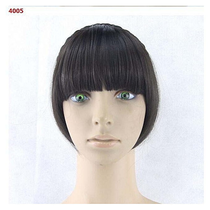 Synthetic Hair Fringe Black Blonde Bangs With Braided Clip Hairpieces Accessories 4005