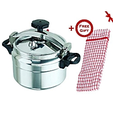 Amazing Pressure Cooker - Explosion proof - 9 Ltrs - Silver (+ Free Gift Hand Towel)