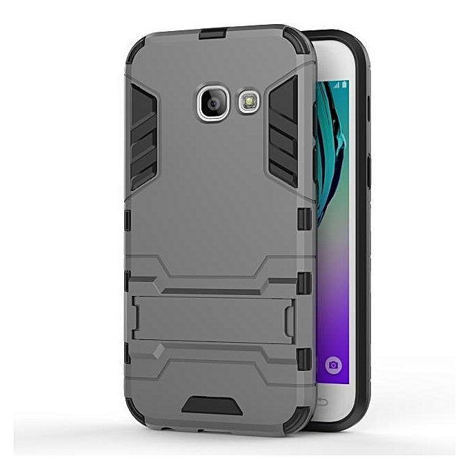 ... Iron Hard Man Armor Dual Phone Back Cover Case With Kickstand For Samsung Galaxy A3( ...