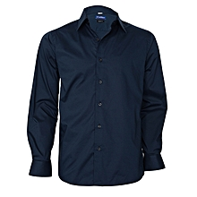Navy Blue Long Sleeved Shirt