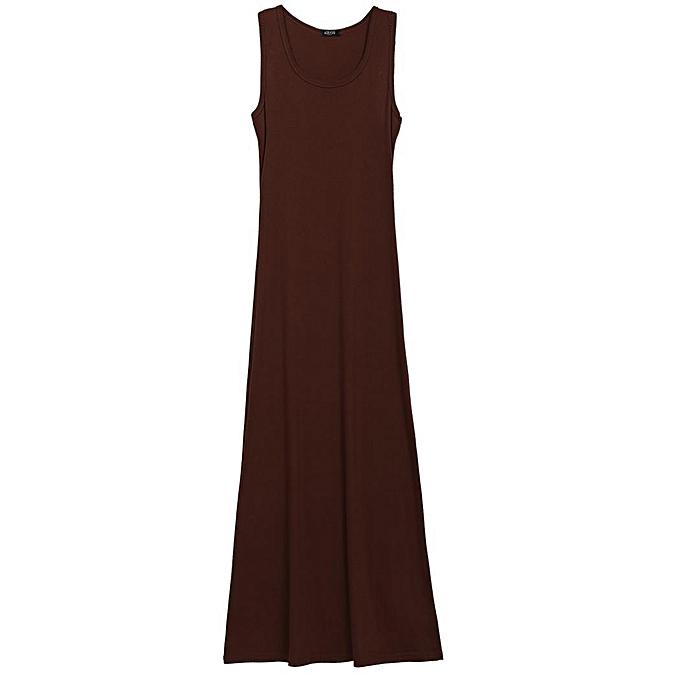 197bcd84f76 TOPRANK Women Girl  s Mini Sleeveless Button T-Shirt Dress Long Maxi ...