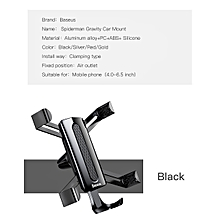 Baseus Spiderman Car Phone Holder For iPhone X 8 7 Samsung Note 8 S8 Unversal Gravity Air Vent Mount Mobile Phone Holder Stand (Black) MQSHOP