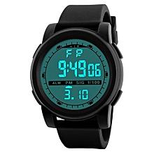 Fashionable Male's LED Waterproof Digital Quartz Military Luxury Sport Date Watches-Black
