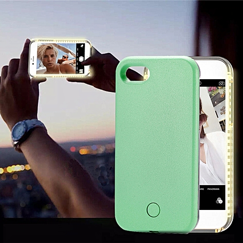 quality design c6142 0a603 For iPhone 8 & 7 LED Light Up Selfie Smartphone Protective Back Cover  Case(Green)
