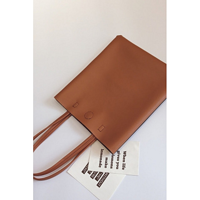 Brown College Wind Wild Bag 2018 Spring New Korean Fashion Shoulder Tide Simple