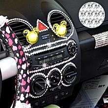 140 PCS Square + 308 PCS Round Glitter Crystal Diamond Decoration / Shining Rhinestone Sticker for Car Sticker & Cell Phone Ornament(Grey)