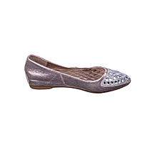 Flat Women's Doll Shoes - Slip-on -Gold