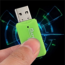 jiuhap store High Speed Mini USB 2.0 Micro SD TF T-Flash Memory Card Reader Adapter GN-Green