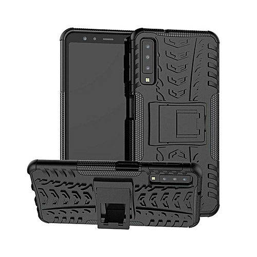 premium selection 0b80b a48d7 For Samsung Galaxy A7 2018 Hybrid TPU Armor Silicone Rubber Hard Case For  Samsung A7 2018 A750F A750 Hard Back Cover Impact Case