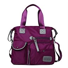 Women's Fashion Solid Color Zipper Waterproof Nylon Shoulder Bag Crossbody Bag