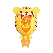 Plastic Lovely Cartoon Animal Sucker Sticky Wall Automatic Toothpaste Dispenser Tiger
