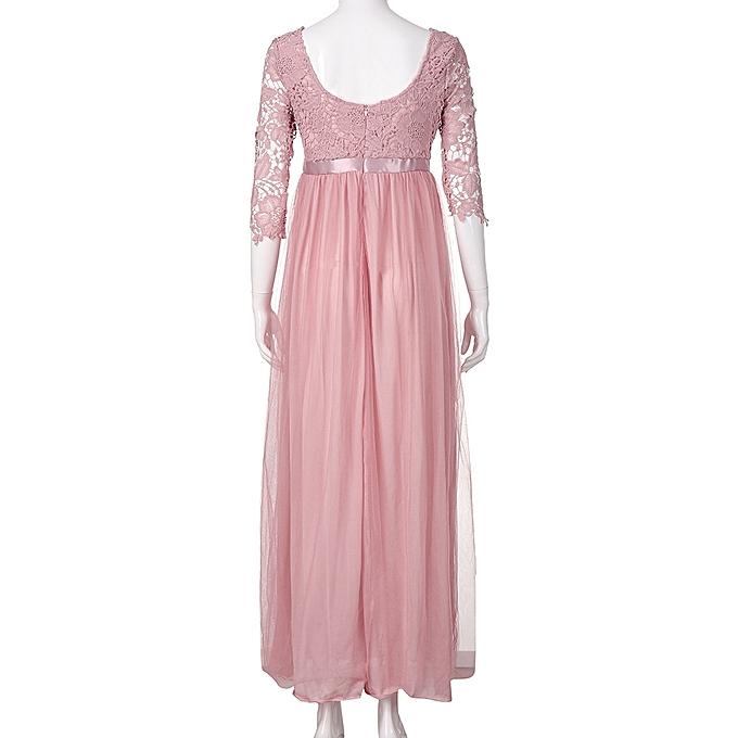 69c793772a03 ... Xiuxingzi Women Chiffon Bridesmaid Long Maxi Evening Prom Gown Lace  Long Dress PK M ...