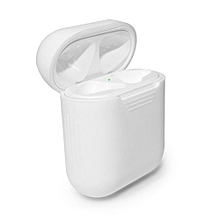 Soft Silicone Shock Proof Protective Cover Case For Apple AirPods Earphones-White