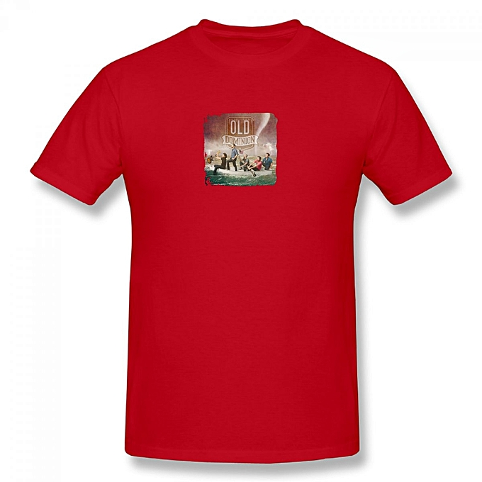 Break Up With Him Old Dominion Men's Cotton Short Sleeve Print T-shirt Red