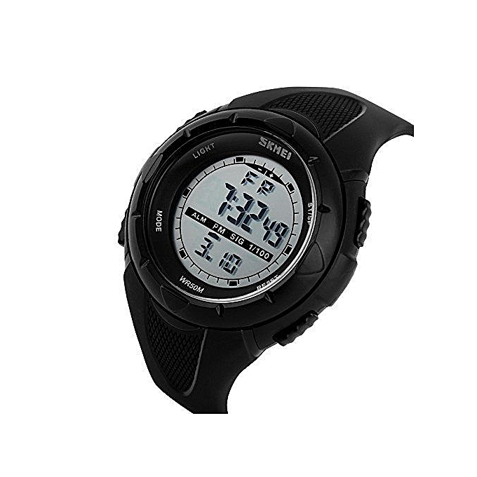 LED Sports Army Water Resistant Outdoor Watch 1025 - Black