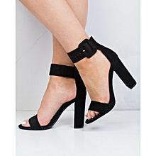 Black Chunky Formal Sandals