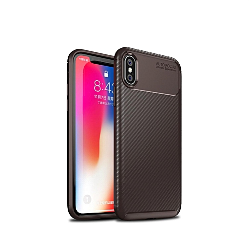 reputable site 45174 63f52 DugeCase Silicone Bumper Shockproof Cover For IPhone XS/X ,Light Slim  Simple Stylish Soft Carbon Fiber TPU Fully Protective Cases For IPhone X/XS  5.8 ...