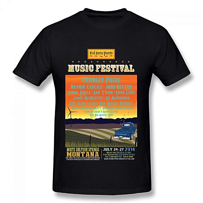 09362fdf9 Red Ants Pants Festival Poster Men's Cotton Short Sleeve Print T-shirt Black