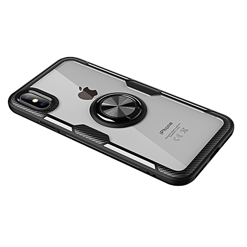 more photos 940a9 e1885 iPhone X Case,Ultra-Slim Clear Shock Absorbing Case with Ring Holder Stand  Compatible Magnetic Car Mount Cover for Apple iPhone X 5.8