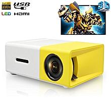 YG300 LED Mini Projector Full HD Max 1080p Support - Mini Portable Home Theatre Cinema Media Player