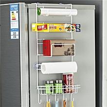 Multi-layer Fridge Storage Rack Side Shelf Sidewall Holder Multi-function Kitchen Organizer Household, Size: 25 x 9.5 x 62cm