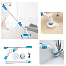 3 Heads Electric Spin Scrubber Cleaning Brush Bathroom Floor Tiles Household Clean Tool EU Plug