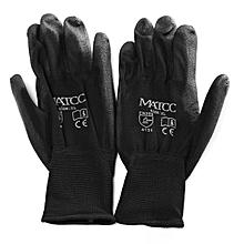 12 pairs Work Gloves Safety Latex PU Nitrile Black White Orange Grey Red