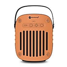 NewRixing NR - 4014 Portable Wireless Bluetooth Stereo Speaker Mini Player-ORANGE