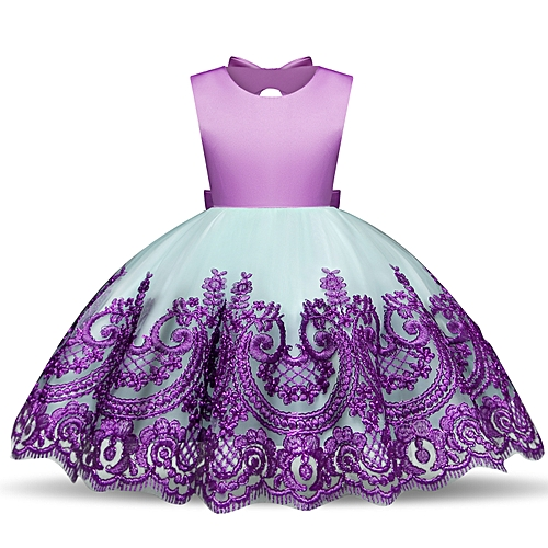 4cb0f66abdd Fashion Girl Dress Kids Ruffles Lace Party Wedding Dancing Dresses Fashion Children  Dress Skirt Girls Princess Dress