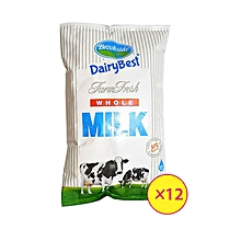 Dairy Best Whole Milk - 12 Packets Each 500ml
